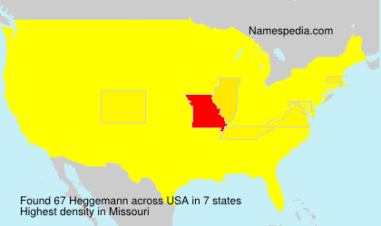 Surname Heggemann in USA