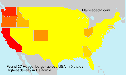 Surname Heggenberger in USA