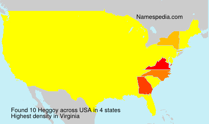 Surname Heggoy in USA