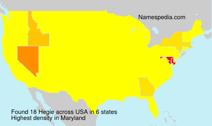 Surname Hegie in USA