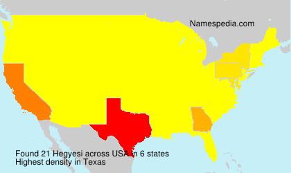 Surname Hegyesi in USA