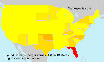 Surname Hehenberger in USA