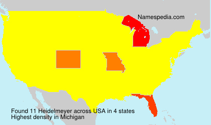 Surname Heidelmeyer in USA