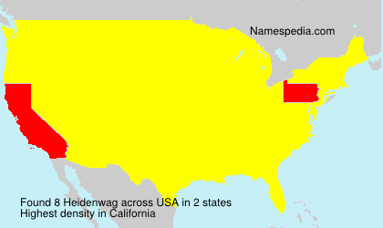 Surname Heidenwag in USA