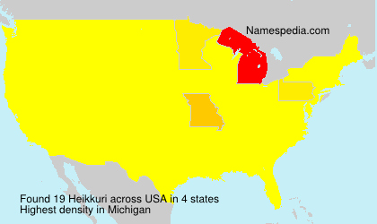 Surname Heikkuri in USA