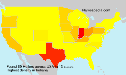 Surname Heilers in USA