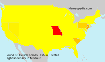 Surname Heilich in USA