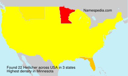 Surname Heilicher in USA