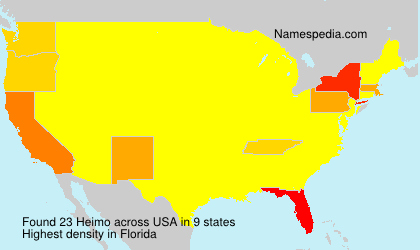 Surname Heimo in USA