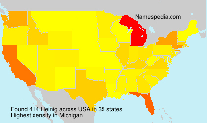 Surname Heinig in USA