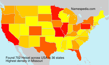 Surname Heisel in USA