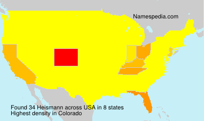 Surname Heismann in USA