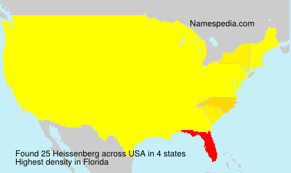 Surname Heissenberg in USA