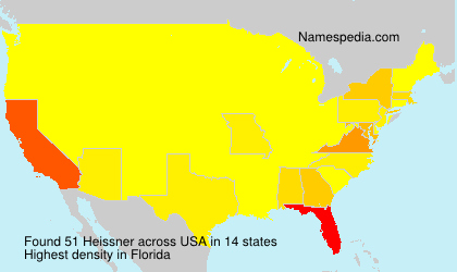 Surname Heissner in USA
