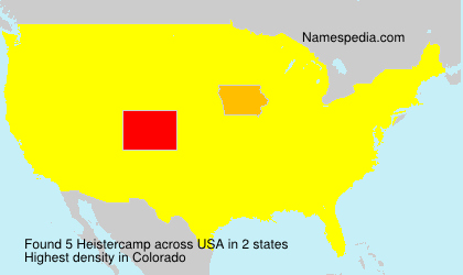 Surname Heistercamp in USA