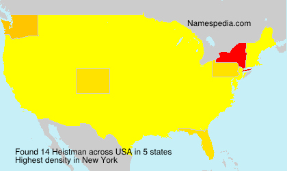 Surname Heistman in USA