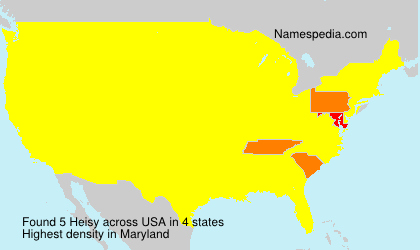 Surname Heisy in USA