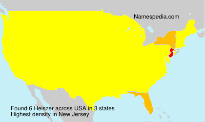 Surname Heiszer in USA