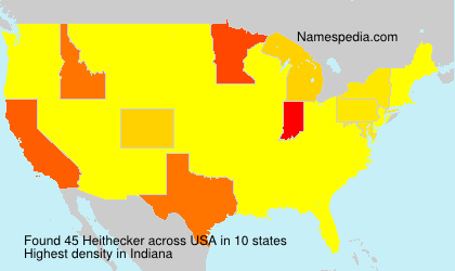 Surname Heithecker in USA