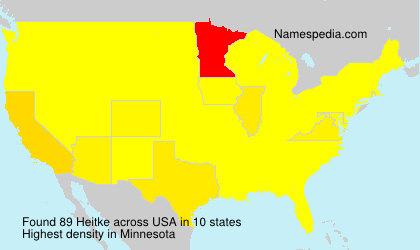 Surname Heitke in USA