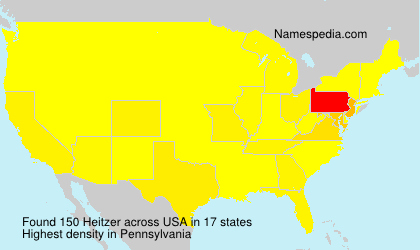 Surname Heitzer in USA