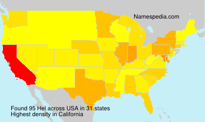 Surname Hel in USA