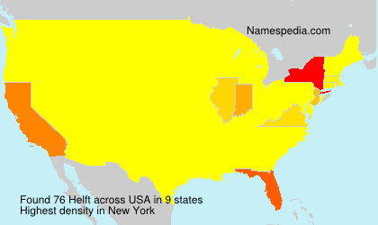 Surname Helft in USA