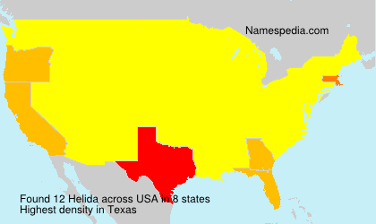 Surname Helida in USA