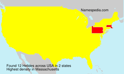 Surname Helides in USA
