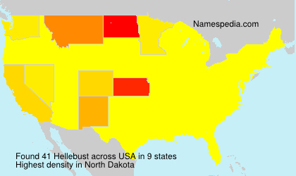 Surname Hellebust in USA