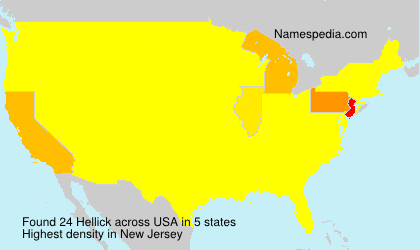 Surname Hellick in USA