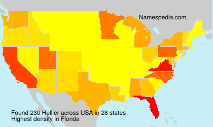 Surname Hellier in USA