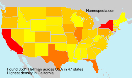 Surname Hellman in USA