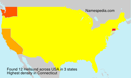 Surname Hellsund in USA
