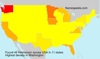 Surname Helmerson in USA