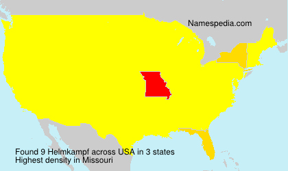 Surname Helmkampf in USA