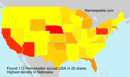 Surname Helmstadter in USA