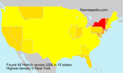 Surname Helrich in USA