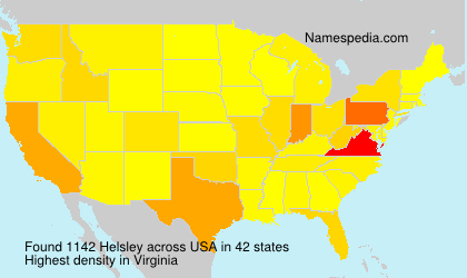 Surname Helsley in USA