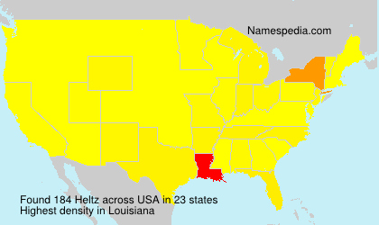 Surname Heltz in USA