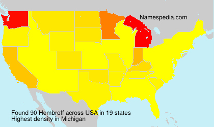 Surname Hembroff in USA