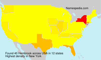 Surname Hembrook in USA