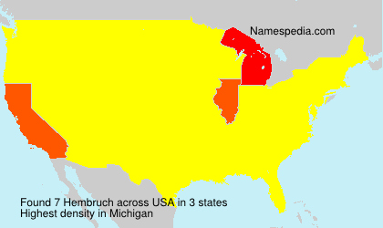 Surname Hembruch in USA