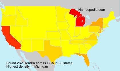 Surname Hendra in USA