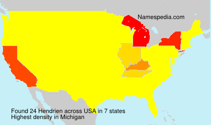 Surname Hendrien in USA
