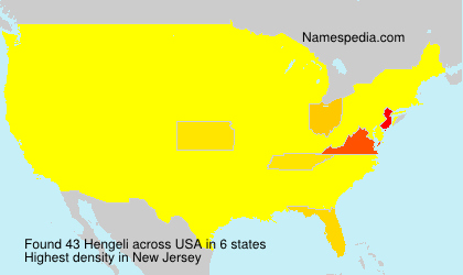 Surname Hengeli in USA