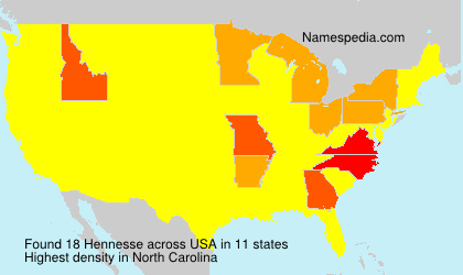 Surname Hennesse in USA