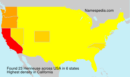 Surname Henneuse in USA