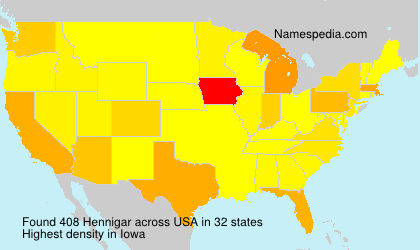 Surname Hennigar in USA