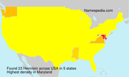 Surname Hennlein in USA